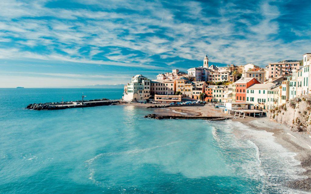World Italy Blue Lagoon In Liguria Italy 064864
